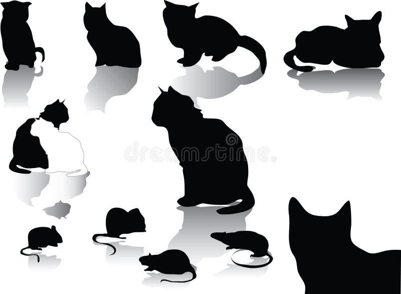 Gatto e mouse royalty illustrazione gratis