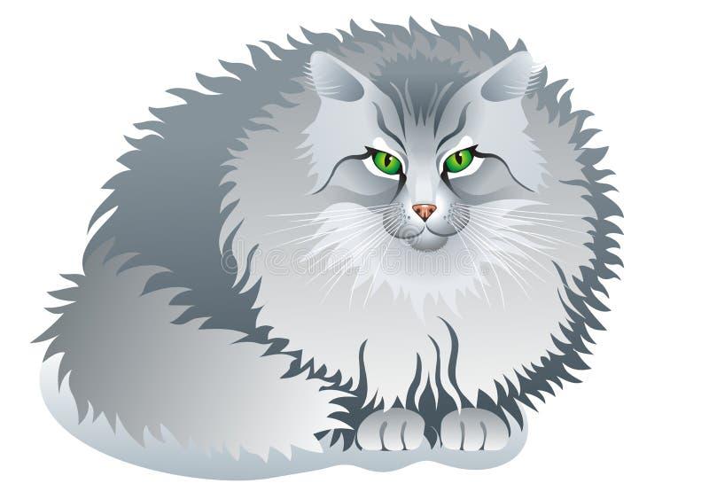 Gatto grigio illustrazione vettoriale