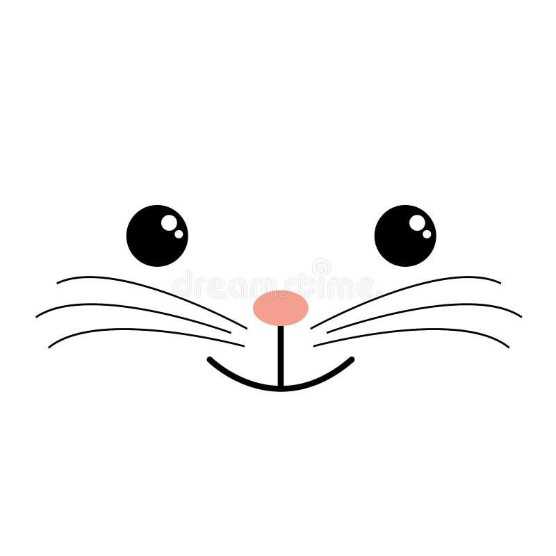 Gatto, isolato dello scarabocchio sveglio Carattere di schizzo di vettore dei gatti fatto a mano stampare le magliette Scherza gl illustrazione vettoriale