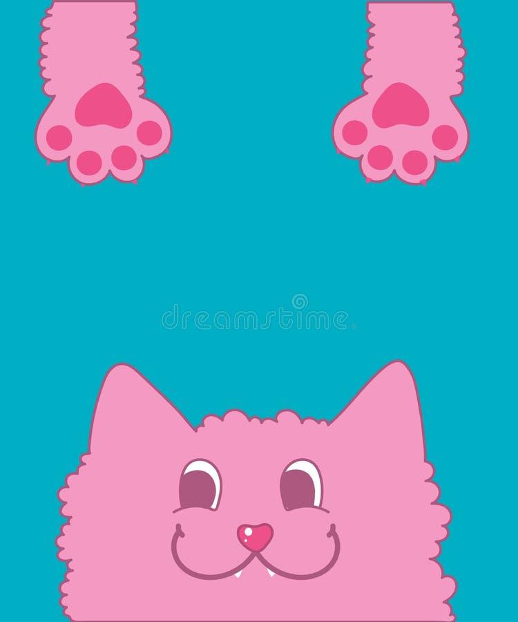 Gatto rosa abile immagini stock