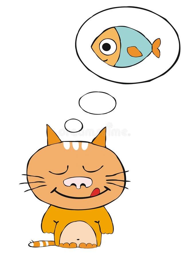Gatto rosso vago illustrazione vettoriale