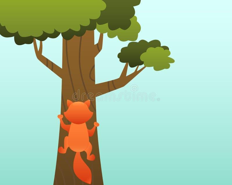 Gatto sull'albero royalty illustrazione gratis