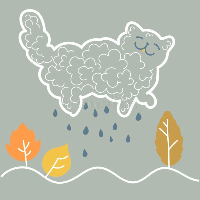 gatto - una nuvola immagine stock