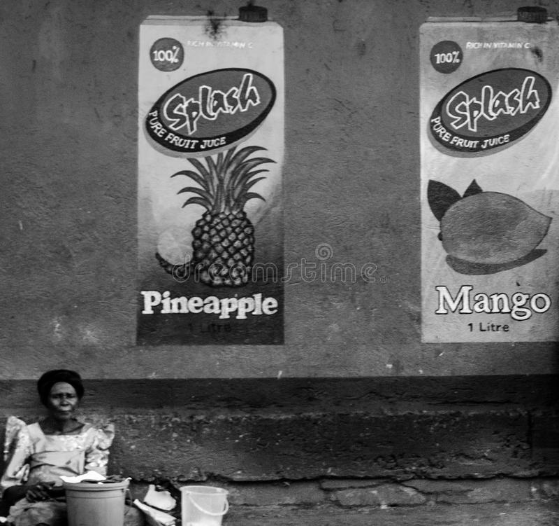 Gatuförsäljare arkivfoto