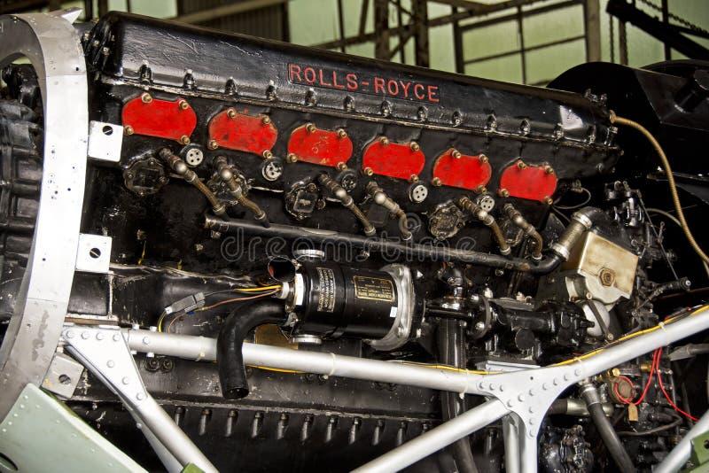 Gatuförsäljare Hurricane IIA Rolls Royce Engine royaltyfri fotografi