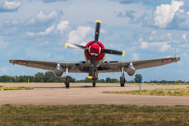 Gatuförsäljare Sea Fury FB-11 royaltyfri foto
