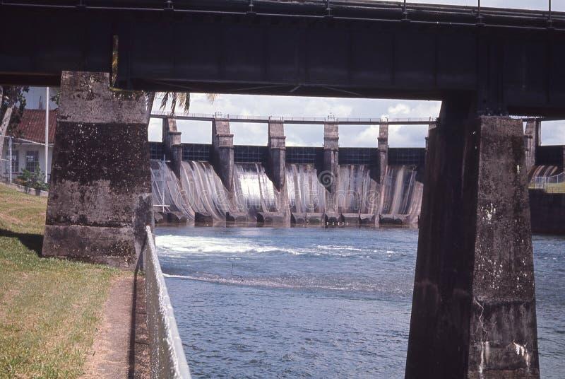 Gatun Dam and Spillway, Gatun Lake, Canal Zone, Panama royalty free stock photos