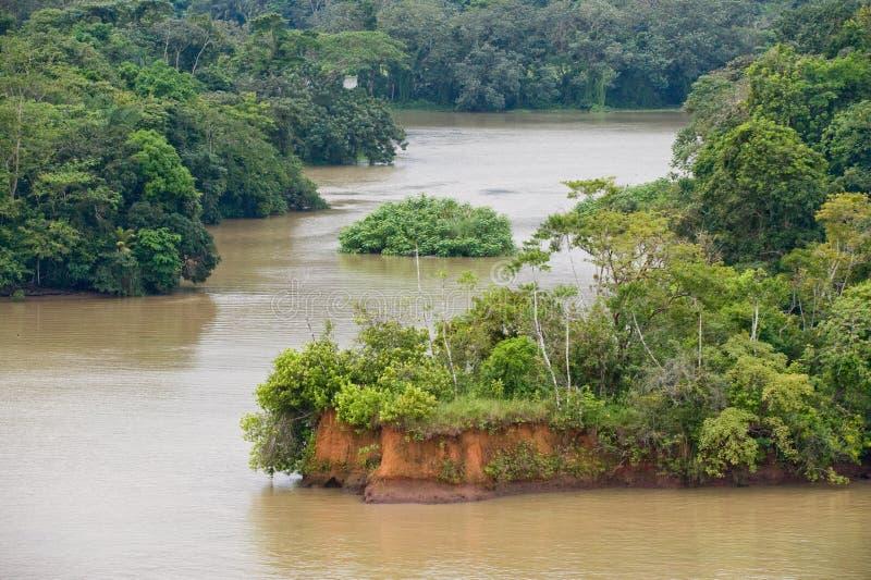 Gatun lake scenic Panama stock photography