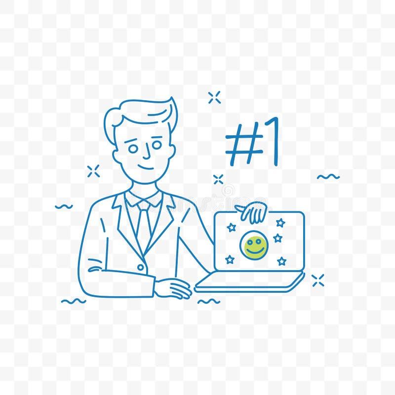Gatunek reputaci zarządzania doodle wektorowa ikona ilustracji