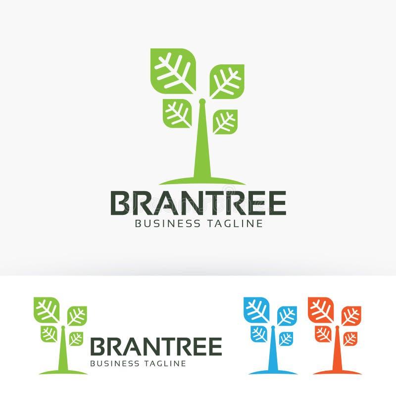 Gatunku loga drzewny wektorowy projekt ilustracja wektor