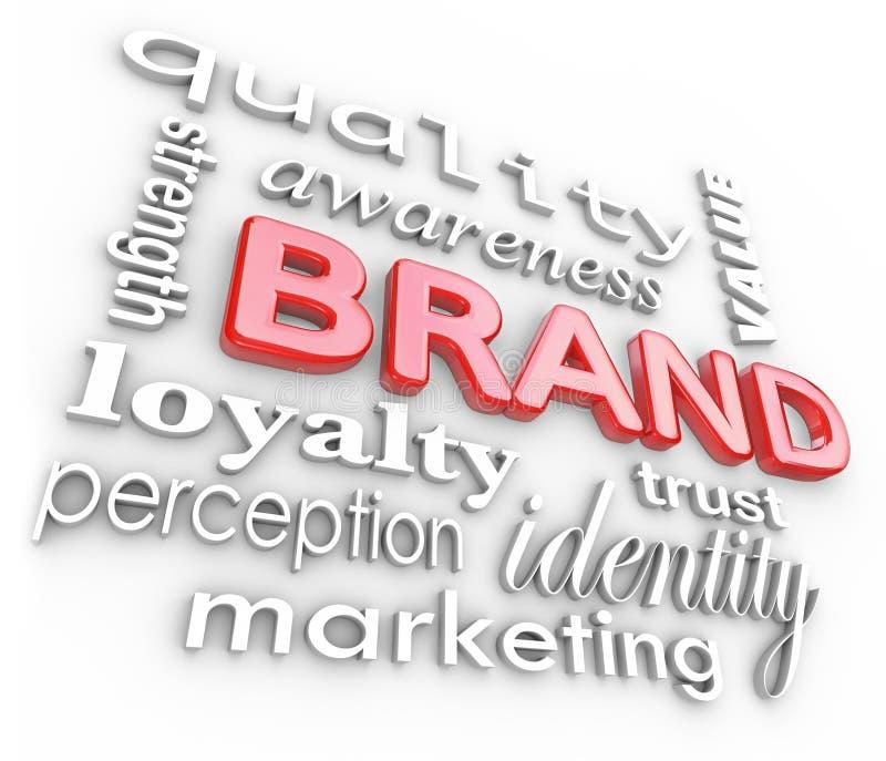 Gatunku Marketingowy Słów Świadomości Lojalności TARGET1060_0_ royalty ilustracja