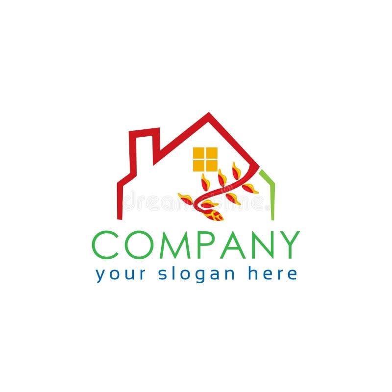 gatunku nieruchomości bezpłatnej loga wiadomości istna sloganu przestrzeń twój tła zielonego domu biel abstrakcjonistyczny domowy ilustracja wektor