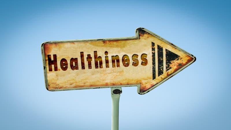 Gatutecken till healthiness arkivbild
