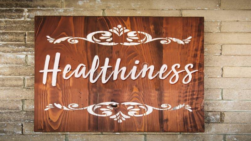 Gatutecken till healthiness arkivbilder