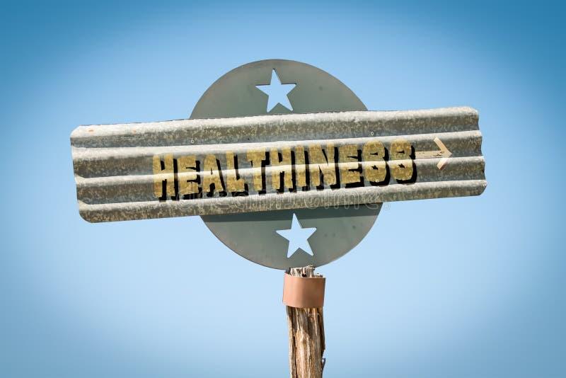 Gatutecken till healthiness royaltyfri bild
