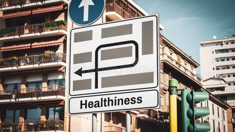 Gatutecken till healthiness royaltyfria foton