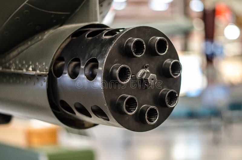GAU-8 vingador - arma de A-10 Gatling fotografia de stock royalty free