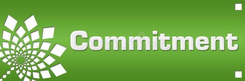Gauche florale de vert d'engagement illustration libre de droits