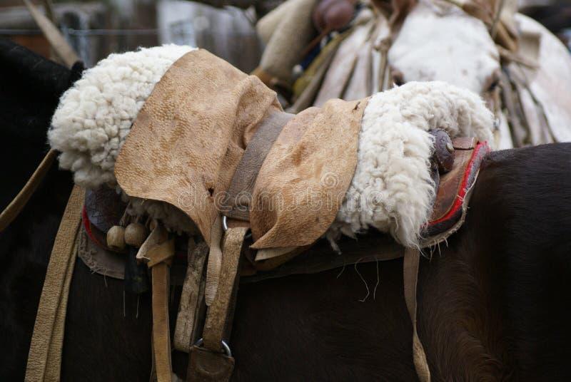 Gaucho horse saddle royalty free stock photo