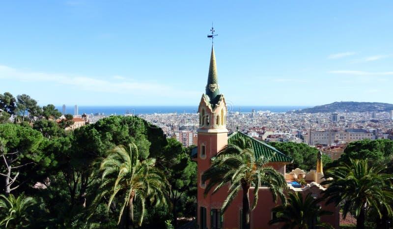 Gaudà muzeum w Parkowym Guell Barcelona zdjęcia stock