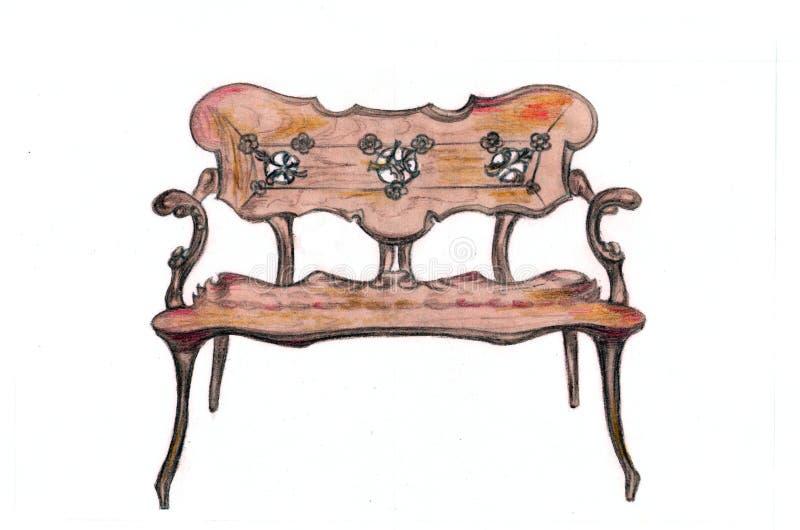 Gaudi ławka ilustracja wektor