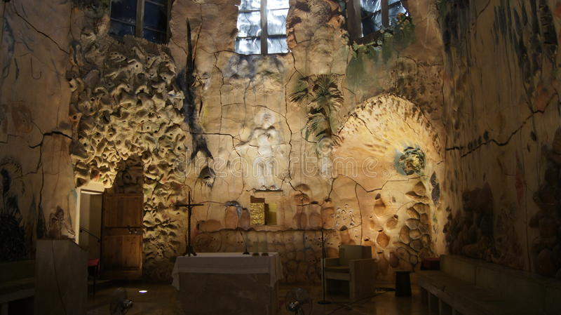 Gaudi στον καθεδρικό ναό της Πάλμα ντε Μαγιόρκα στοκ εικόνα με δικαίωμα ελεύθερης χρήσης
