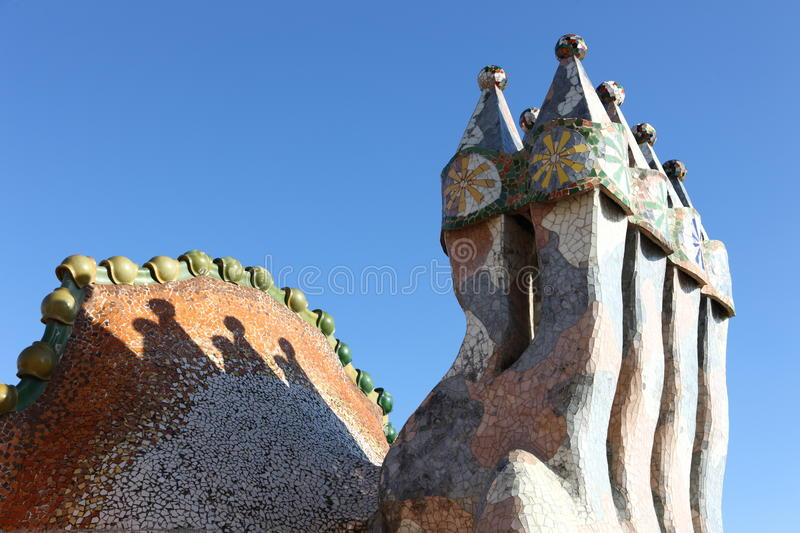 Download Gaudi stock photo. Image of build, house, chimney, shapes - 18168136