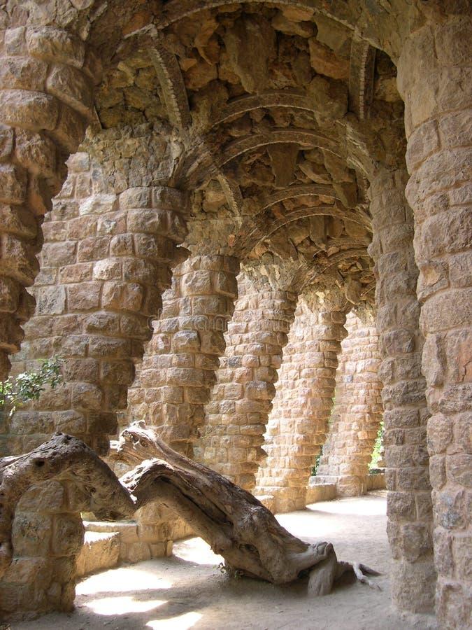 Gaudi arcs stock photos