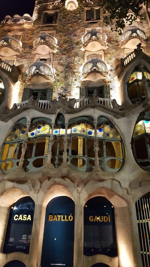 Gaudi battlo Casa στοκ εικόνα με δικαίωμα ελεύθερης χρήσης