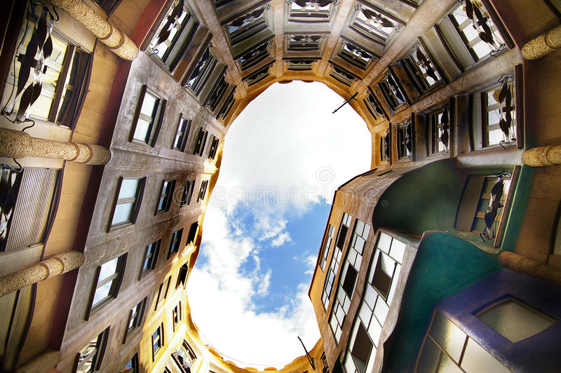 Download Gaudi building stock image. Image of building, apartment - 21713913