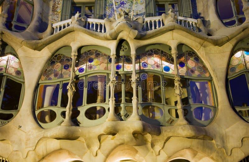 gaudi de détail de maison de batllo de Barcelone photo libre de droits