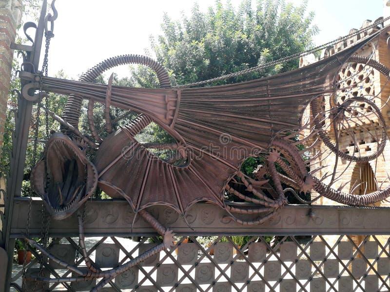 Gaudi Dragon fotografering för bildbyråer
