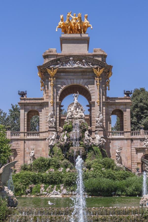 Gaudi fontanna w Barcelona, Hiszpania fotografia royalty free