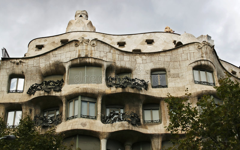 Gaudi house Barcelona royalty free stock photos