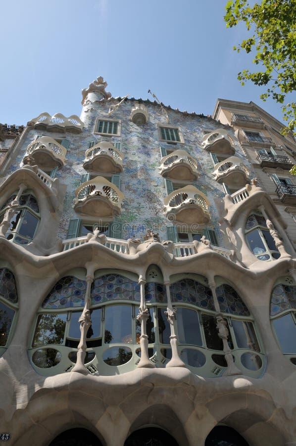 GAUDI HOUSE CASA BATILLO IN BARCELONA SPAIN. Barcelona/catalonia/ Spain/ 22July 2019/ Visitors visitor  waiting at  Gaudi House or Casa Batllo gaudi Barcelona royalty free stock photography