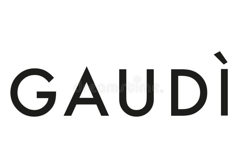 Gaudi logo ilustracja wektor