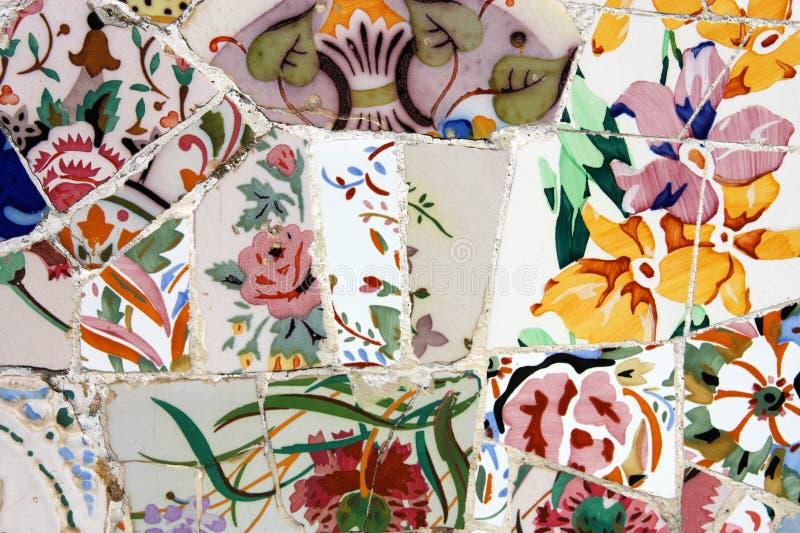 Download Gaudi mosaic stock image. Image of park, colors, catalonia - 17712317