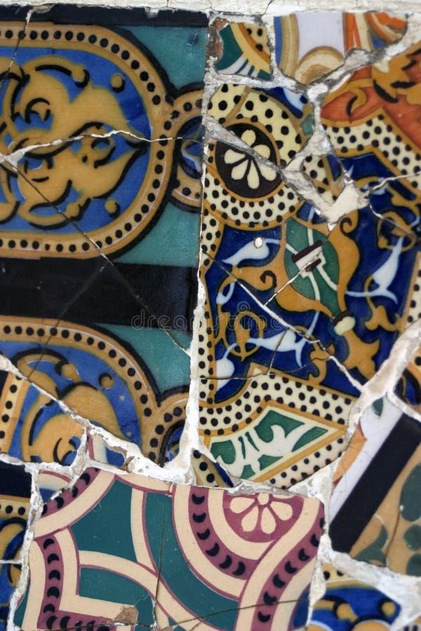 Gaudi Mosaic Tiles - Barcelona, Spain royalty free stock image