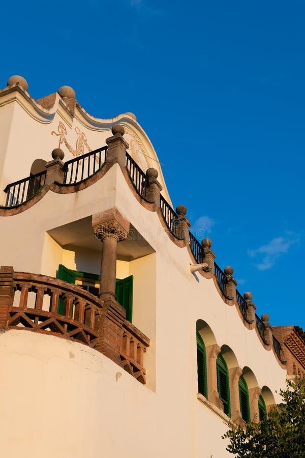 Gaudi muzeum domu szczegół, Parkowy Guell obraz royalty free