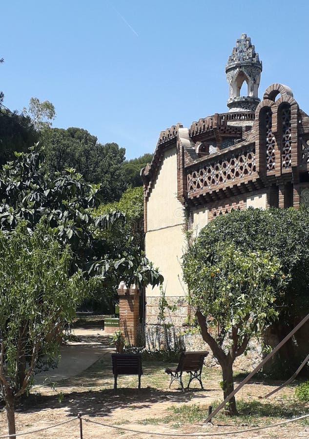 Gaudi Pavilion royaltyfri bild