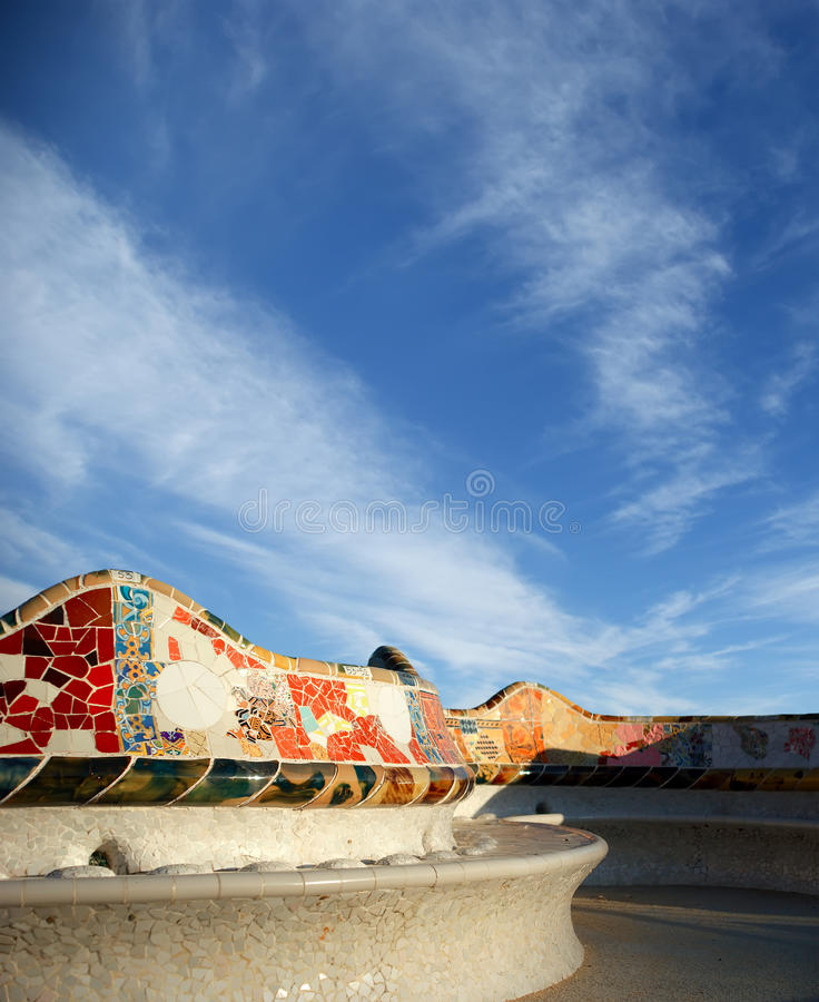 Gaudi S Parc Guell In Barcelona, Spain Royalty Free Stock Photos