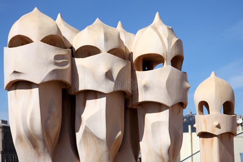 Gaudi Skulptur stockfotos