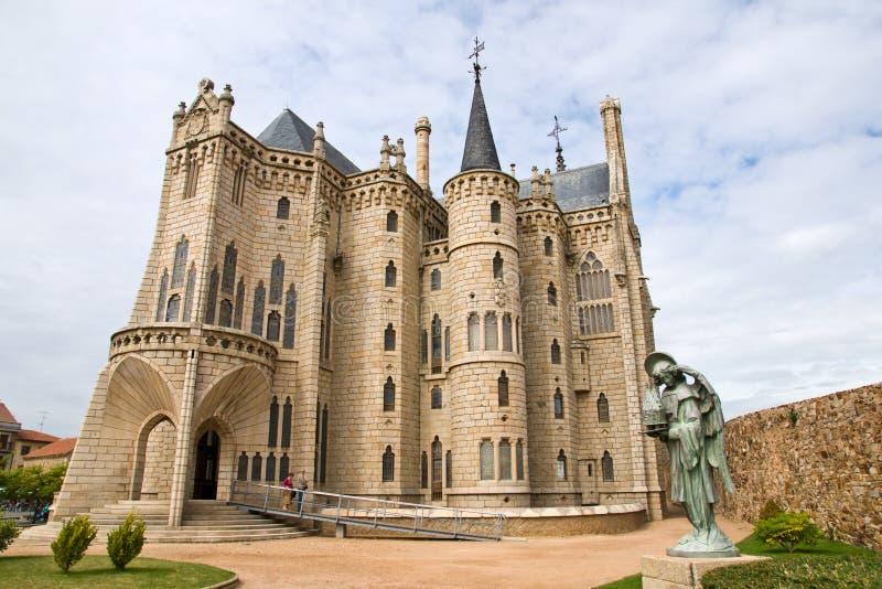 Gaudipaleis in Astorga royalty-vrije stock foto's