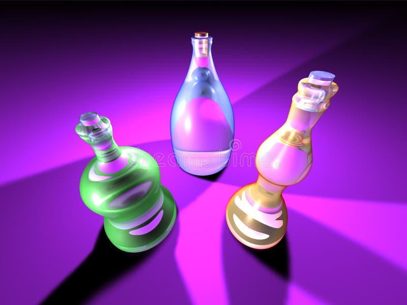 Gaudy Bottles 2 stock illustration