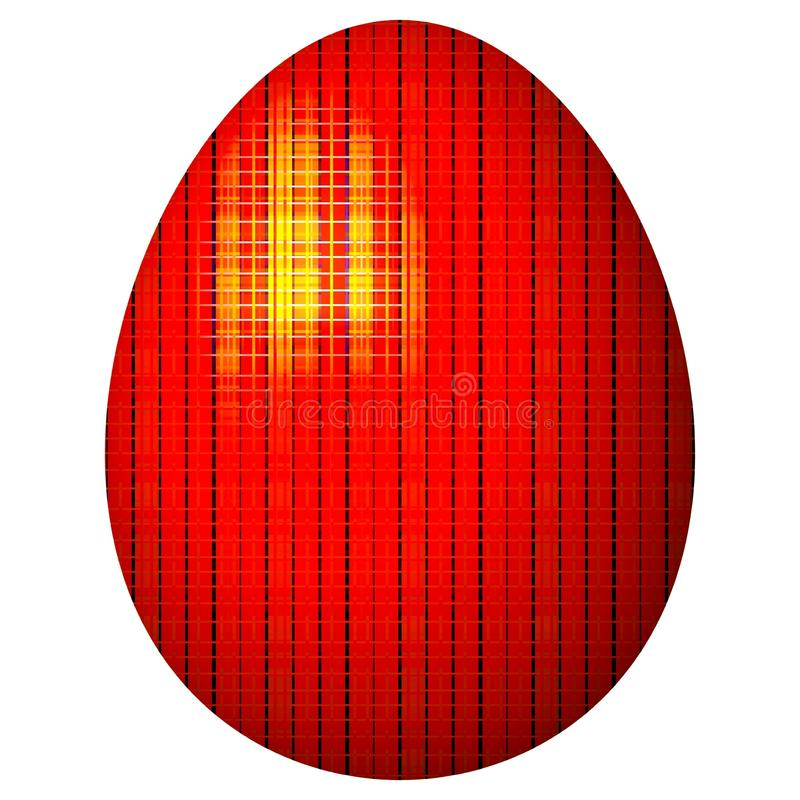 Gaudy glossy red Easter egg stock photography