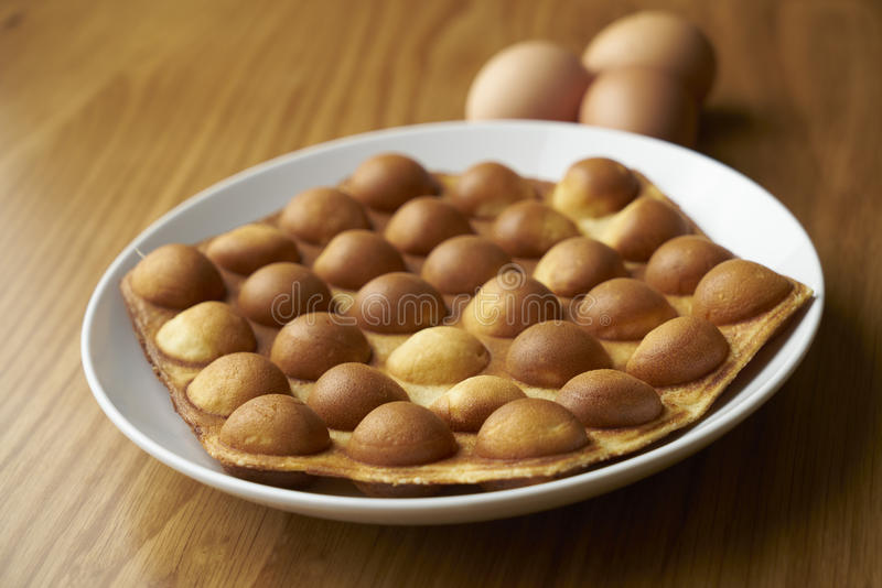 Gaufre d'oeufs images stock