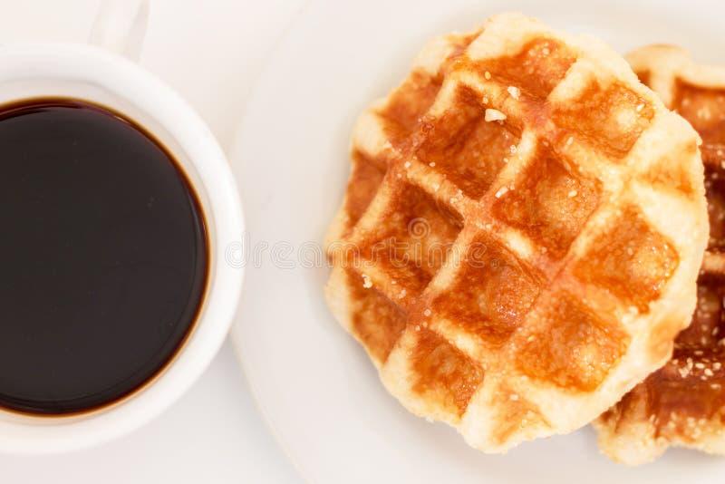 Gaufre et café images libres de droits