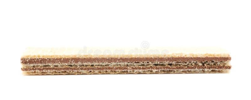 Gaufrette de chocolat d'isolement images libres de droits