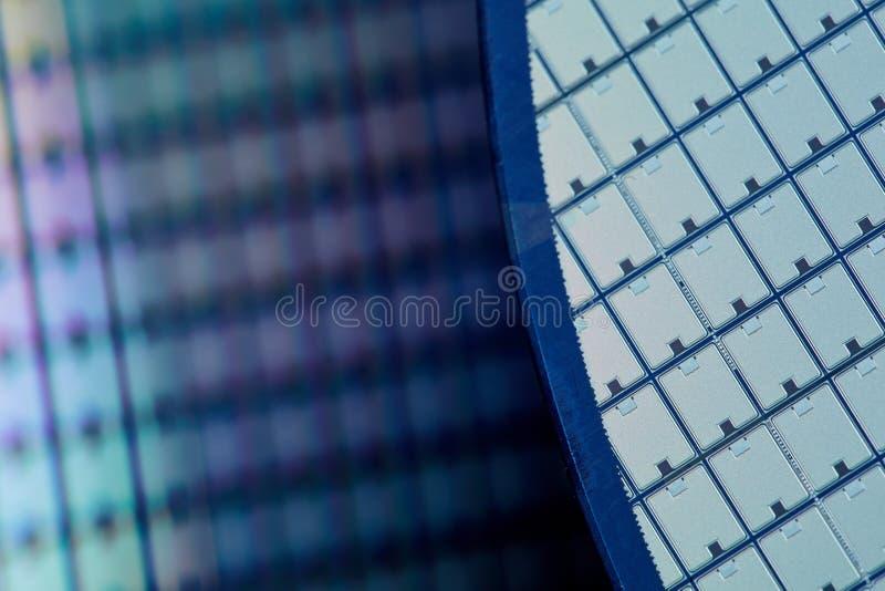 Gaufrettes de silicium photo libre de droits