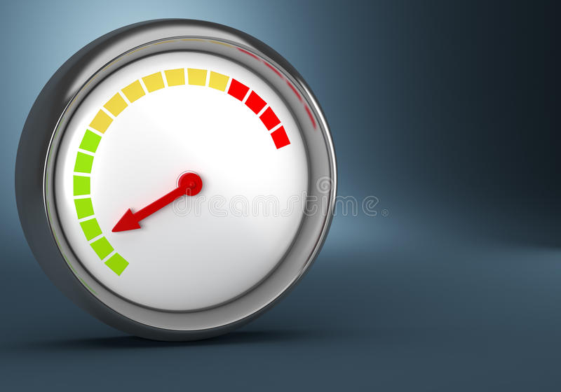 Gauge on dark background vector illustration